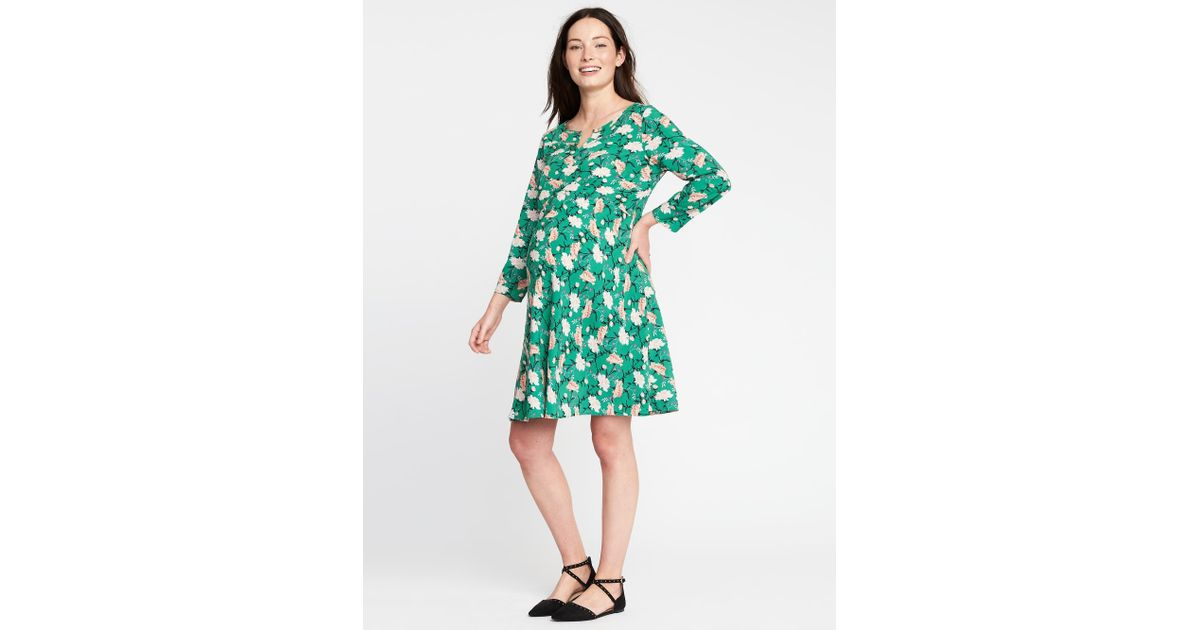 59c068369 Lyst - Old Navy Maternity Floral-print Swing Dress in Green