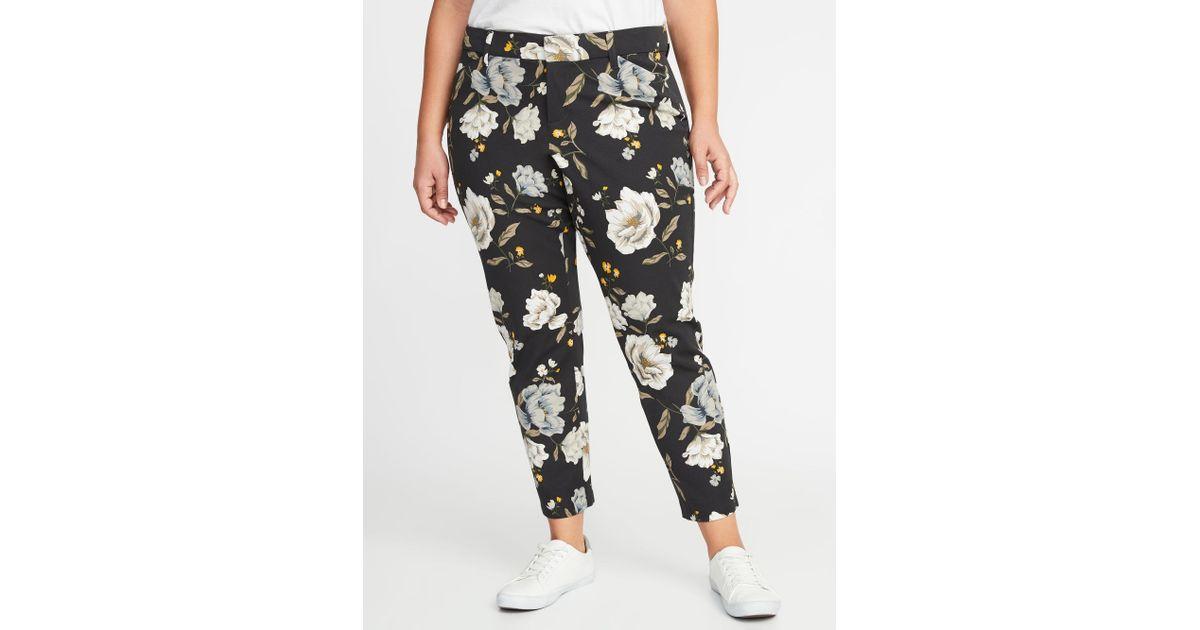 bff6aec0d08 Lyst - Old Navy Mid-rise Secret-slim Pockets Plus-size Pixie Ankle Pants in  Black