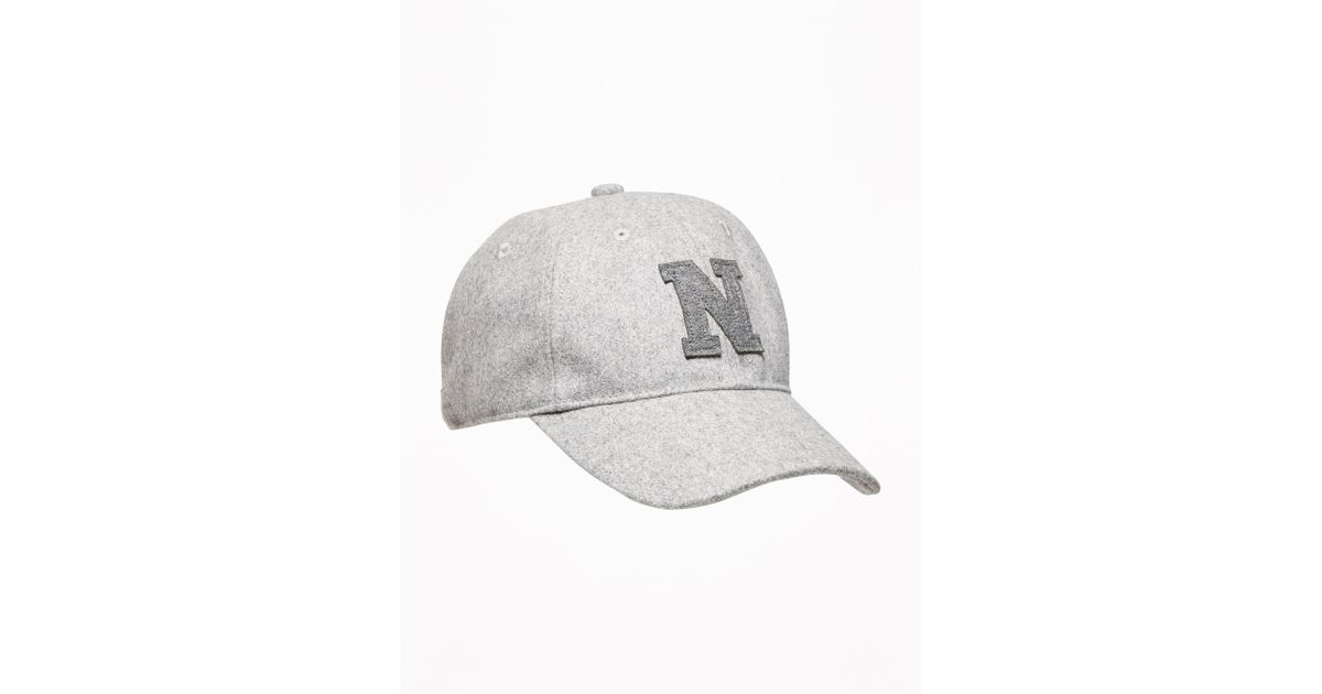 05678e816e212 Lyst - Old Navy Graphic Felt Baseball Cap in Gray for Men