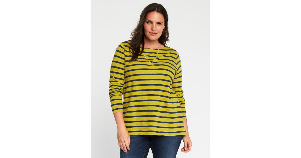 d5fb13db79a Lyst - Old Navy Mariner-stripe Plus-size Boat-neck Tee in Yellow