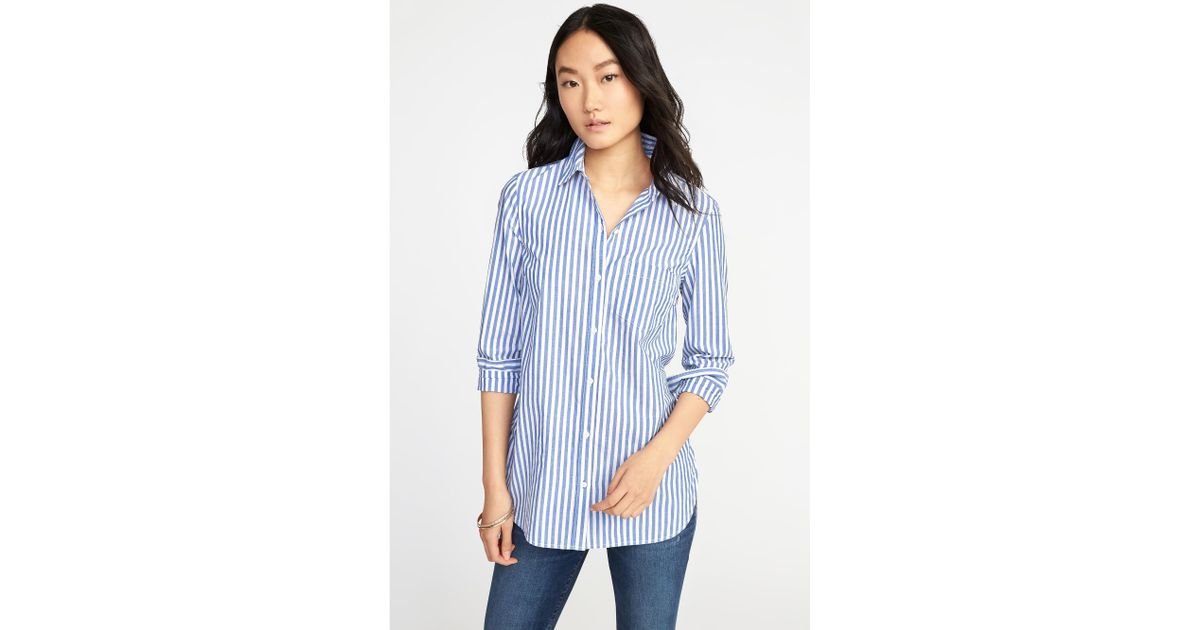 4ff627f3 Old Navy Classic Relaxed Striped Tunic in Blue - Lyst