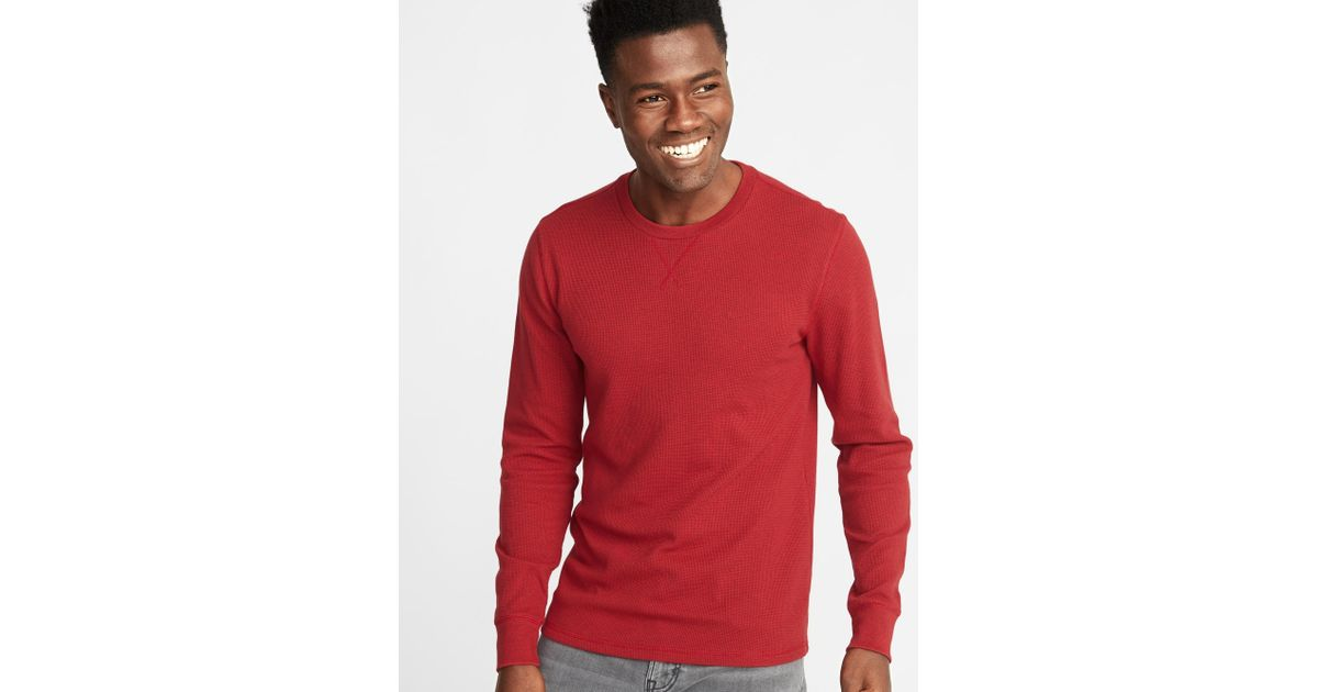 63acb3f8cca Lyst - Old Navy Soft-washed Thermal Crew-neck Tee in Red for Men