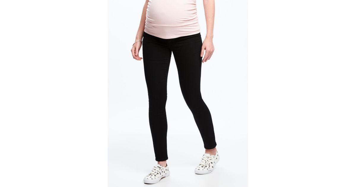 4aac956ee2a Lyst - Old Navy Maternity Never-fade Premium Full-panel Rockstar Jeans in  Black