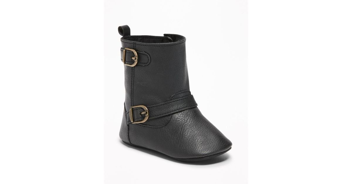 fashion a few days away attractive style Old Navy - Black Faux-leather Buckled Boots - Lyst