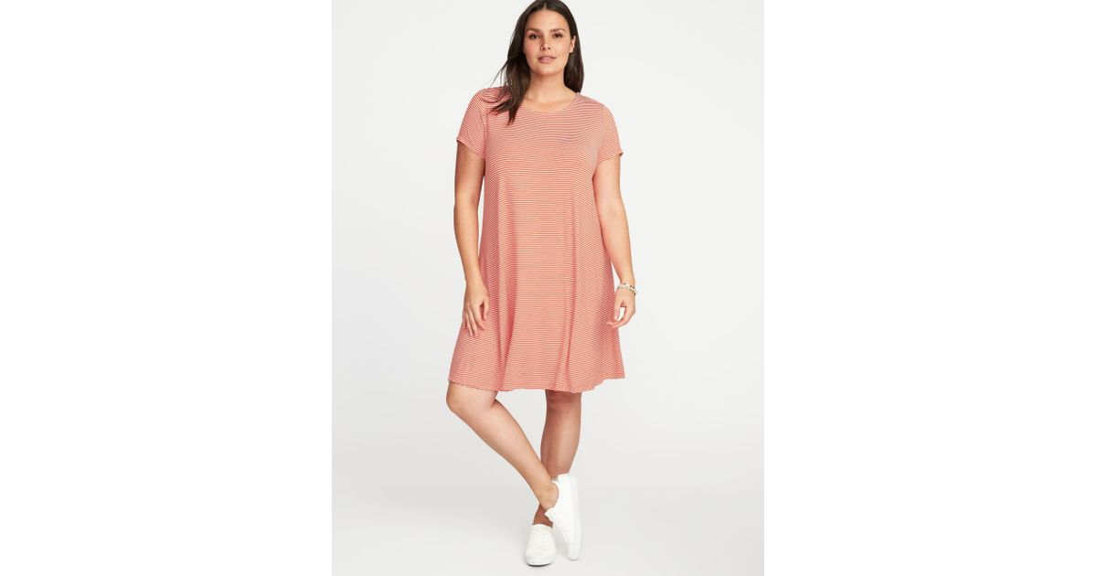 20363f963cd Lyst - Old Navy Short-sleeve Plus-size Jersey-knit Swing Dress