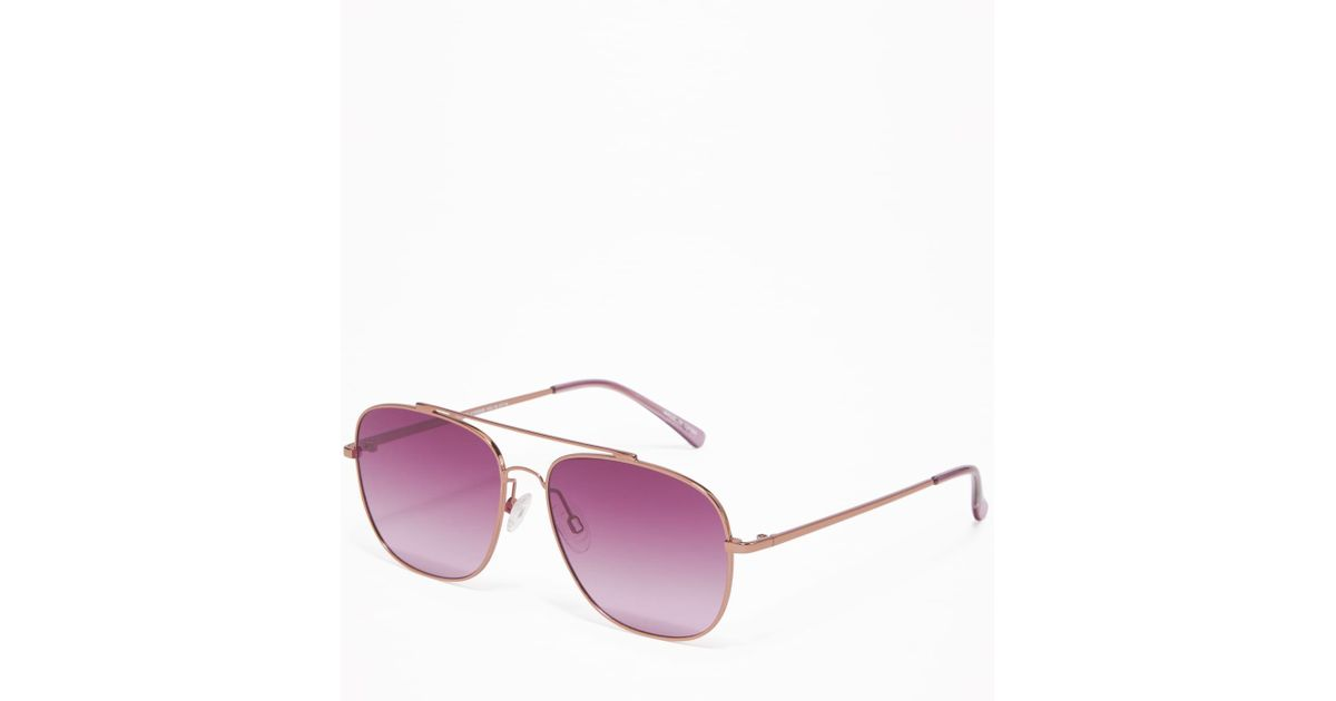 21421758ab Lyst - Old Navy Wire-frame Aviator Sunglasses in Pink