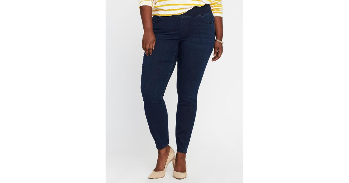 1f5ab78293627 Old Navy Mid-rise Plus-size Rockstar Jeggings in Blue - Lyst