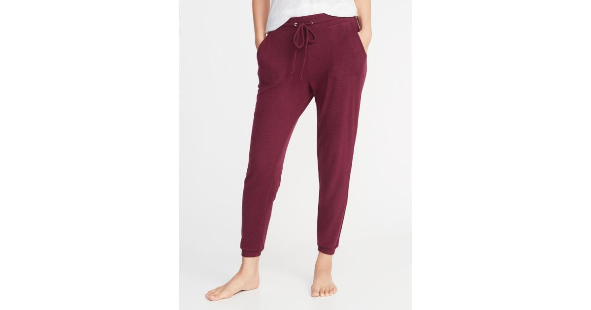 e281a80306eb Lyst - Old Navy Plush-knit Lounge Joggers in Red