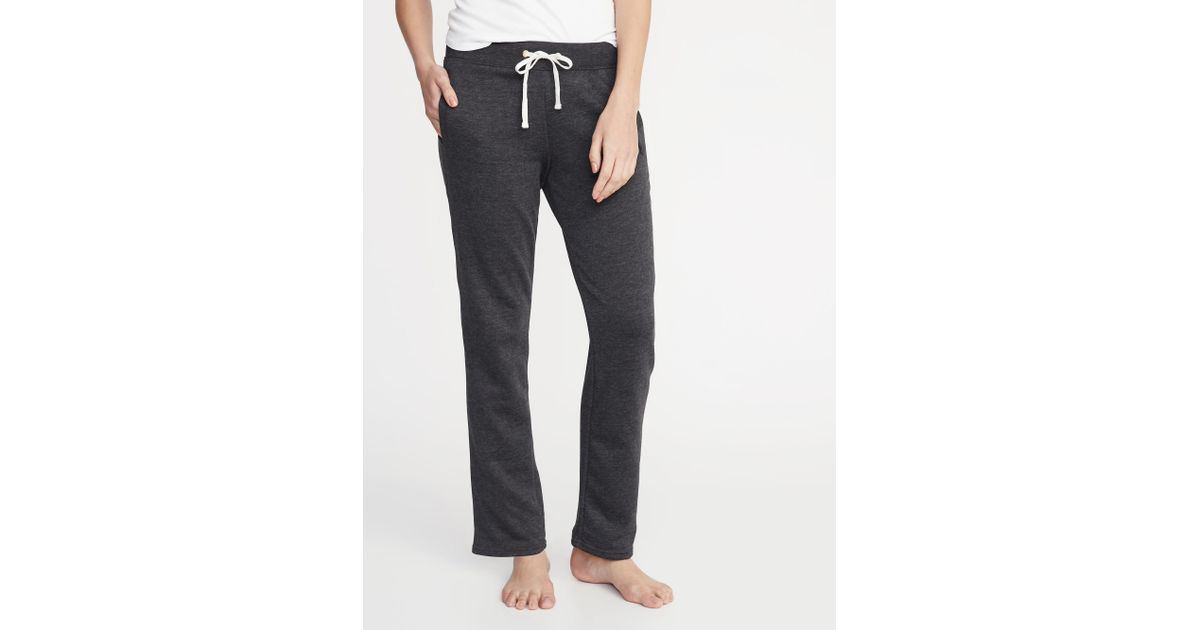 df63f79d07b90 Lyst - Old Navy French Terry Straight-leg Sweatpants in Gray