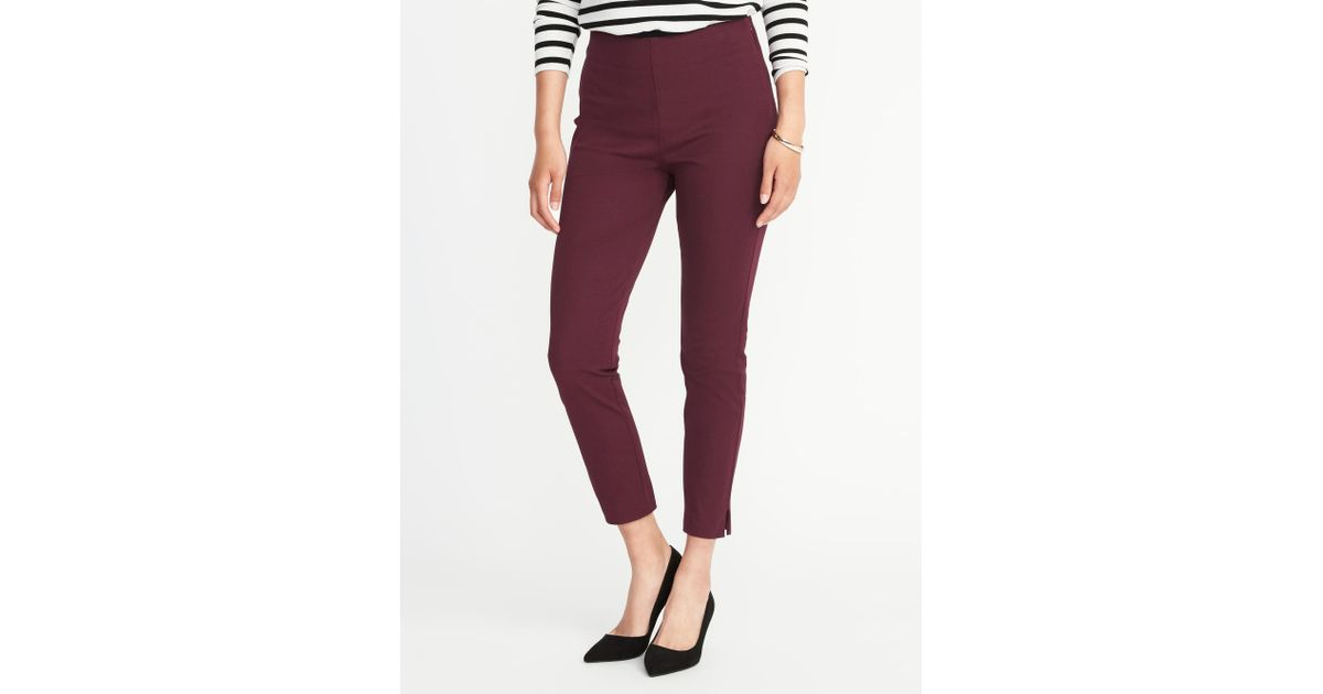 25510c9658d Lyst - Old Navy High-rise Pixie Side-zip Pants in Red