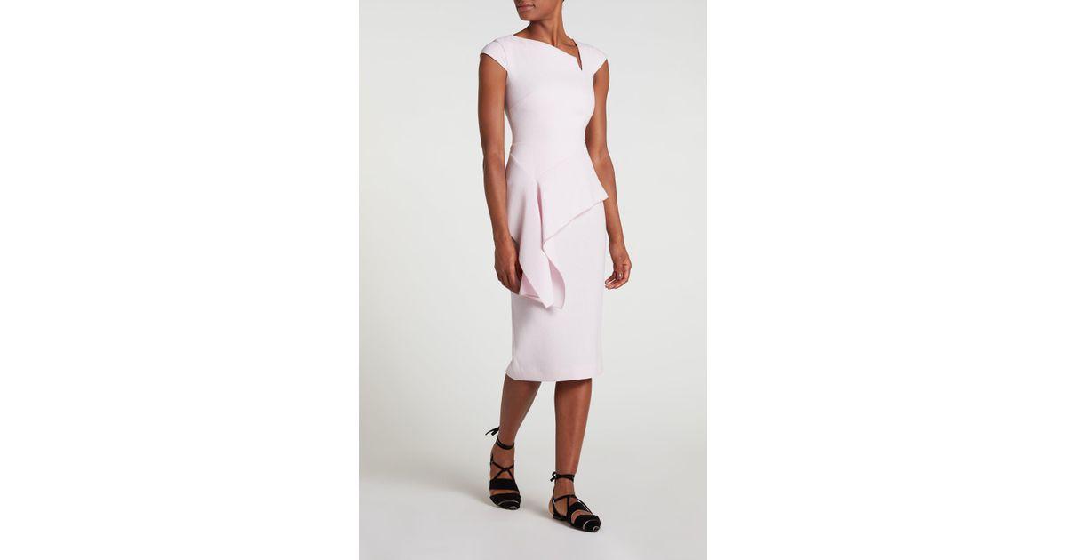 99d9bf04789 Lyst - Roland Mouret Dandridge Dress in Pink