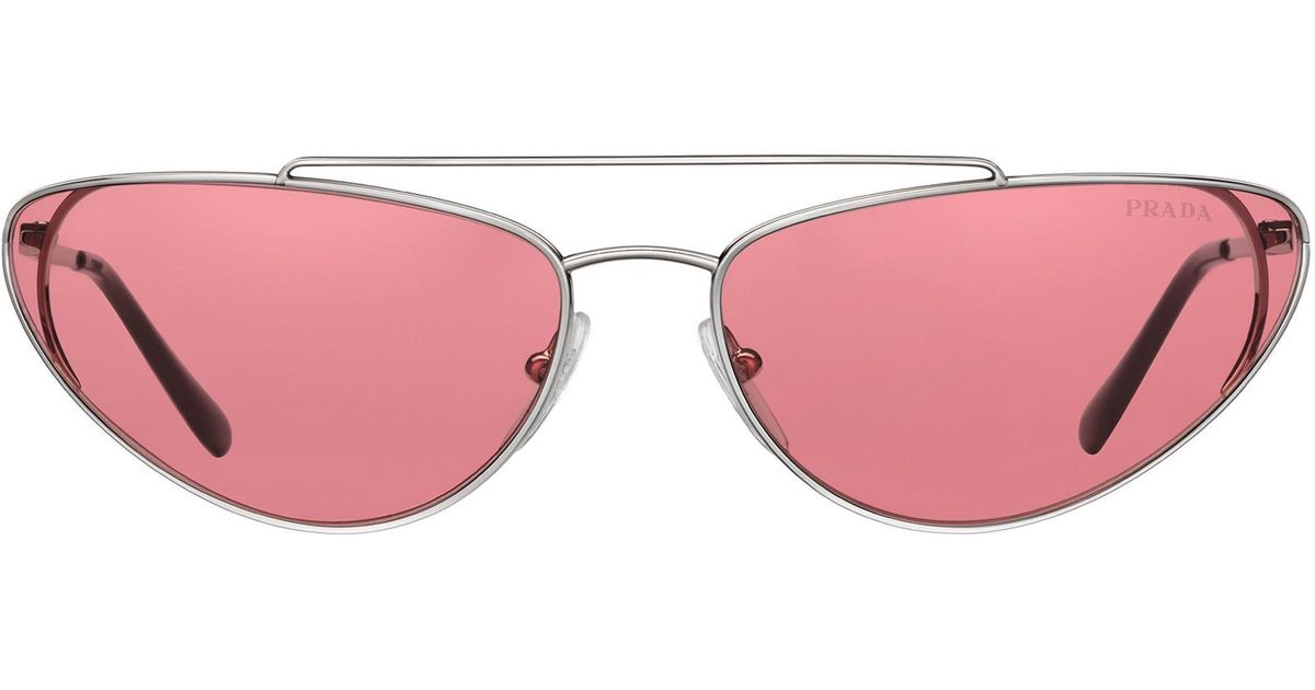 9898a025d51 Lyst - Prada Ultravox Sunglasses in Pink