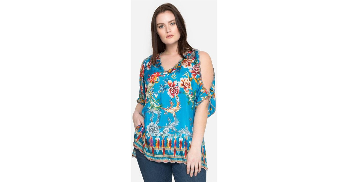 8d333bbe231 Lyst - Johnny Was Betimo Cold Shoulder - Plus Size in Blue