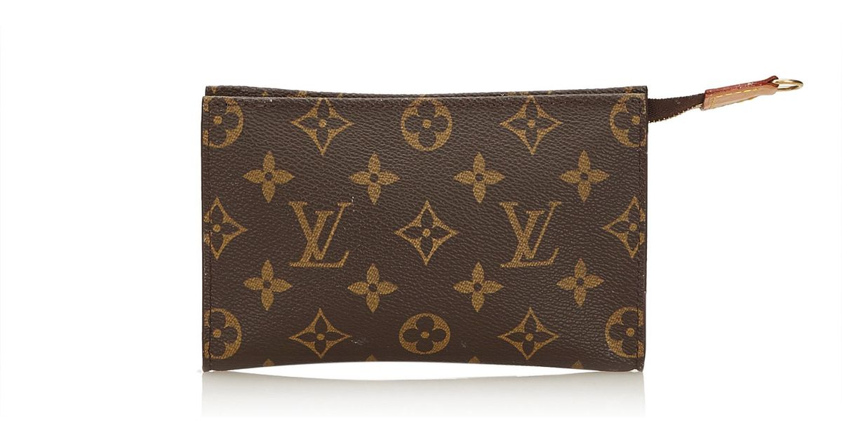 187fc0533268 Lyst - Louis Vuitton Monogram Toiletry Pouch 15 in Brown