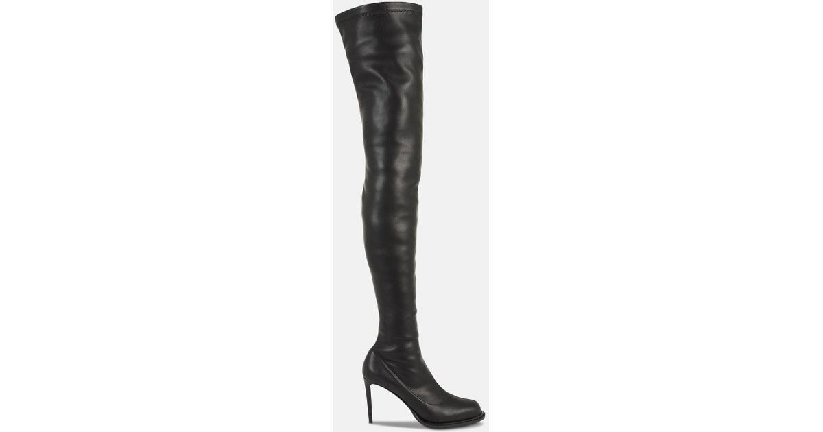 15f63c0075f Lyst - Stella McCartney Black Thigh-high Boots in Black