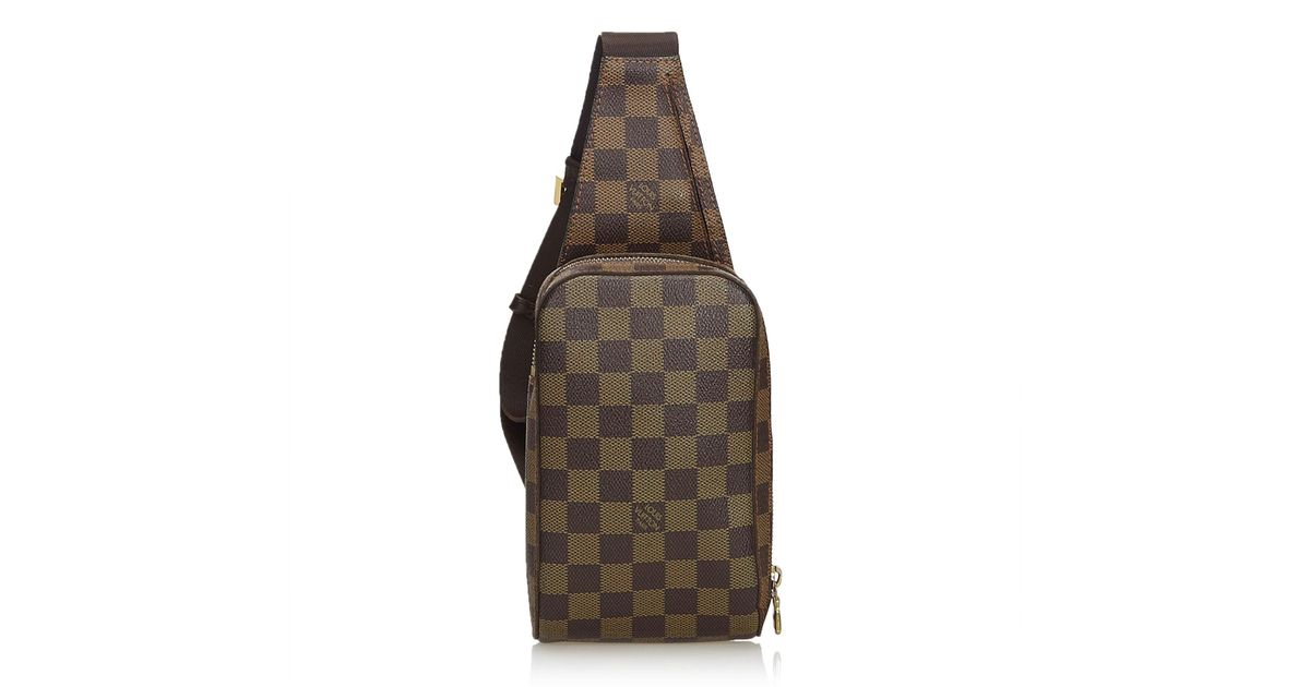 203fb34ce2 Louis Vuitton - Brown Damier Ebene Geronimos - Lyst