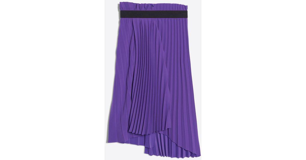 8a07b9e0b296 Lyst - Balenciaga Fancy Pleated Skirt in Purple