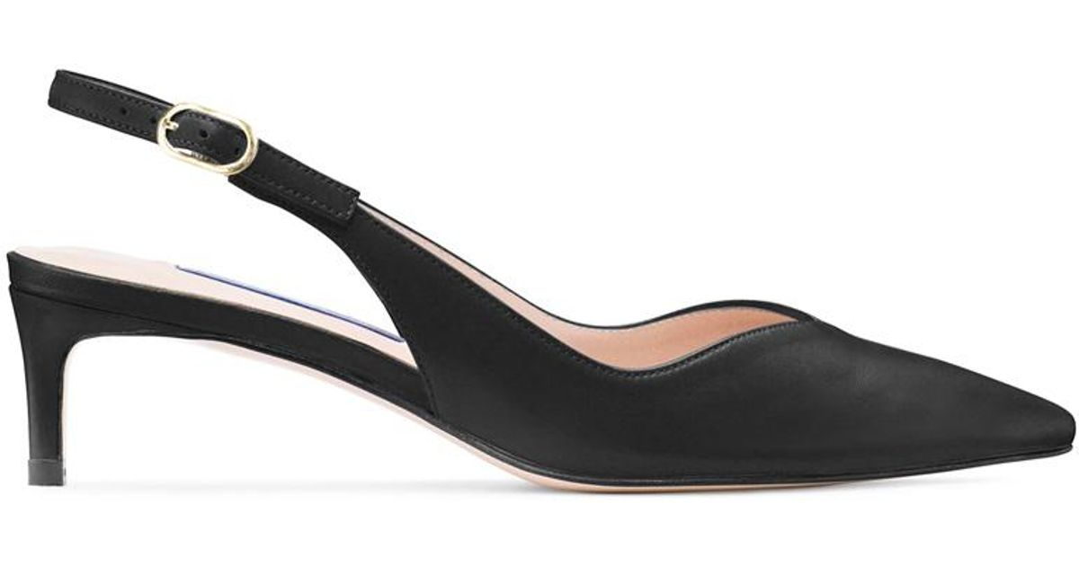 3e283889855 Lyst - Stuart Weitzman The Edith Pump in Black