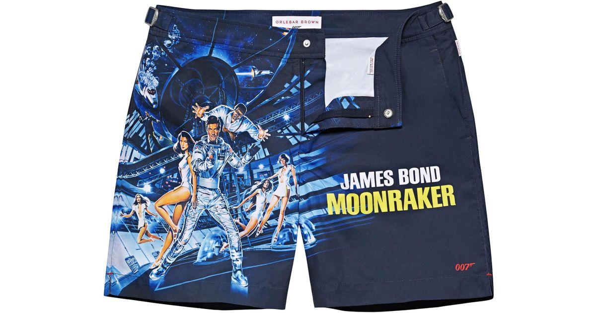 11f2f4898c Orlebar Brown Moonraker Bulldog 007 Mittellange Badeshorts in Blue for Men  - Lyst