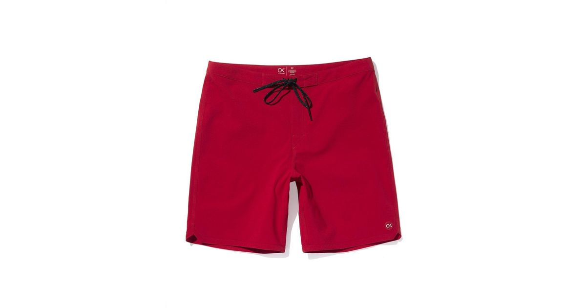a11159edd68 Outerknown Dobby Modern Scallop Trunks in Red for Men - Lyst