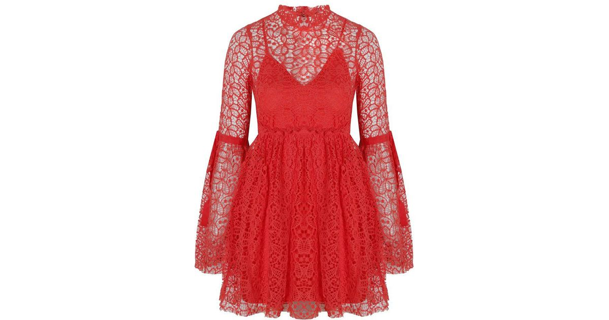 471472b144 Lyst - Alice McCALL Back To You Dress Red in Red
