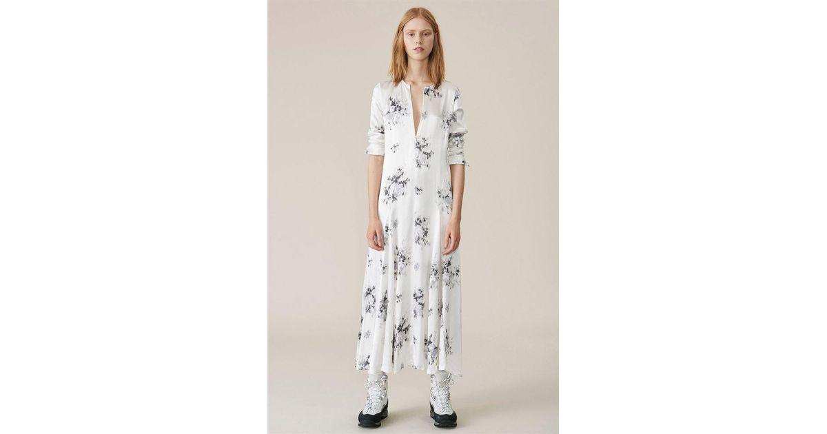 a8266c15 Ganni Cameron Maxi Dress Egret - Lyst