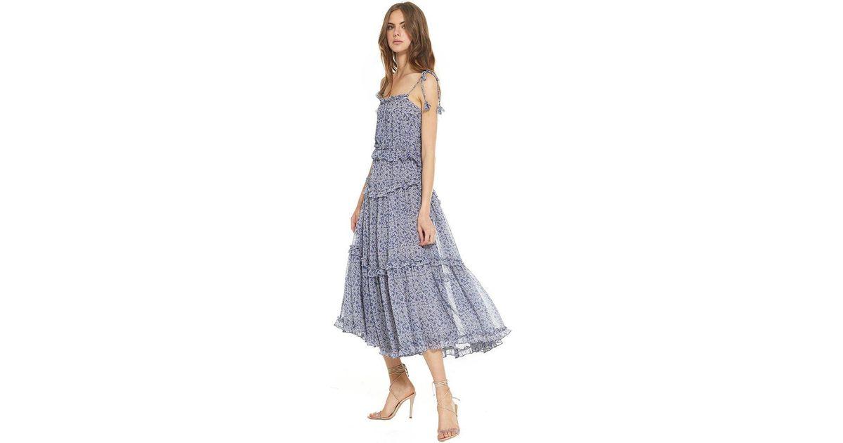 cbf0e3d099d8 MISA Ryane Dress in Blue - Lyst