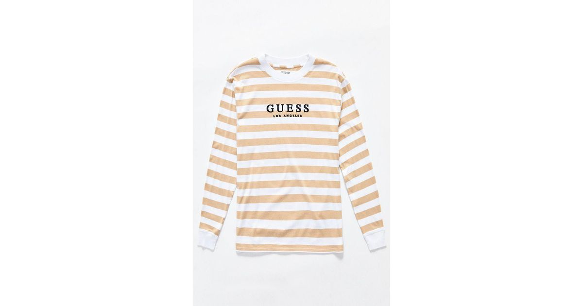 25f4ba35cdd3 Guess St. James Stripes Long Sleeve T-shirt for Men - Lyst