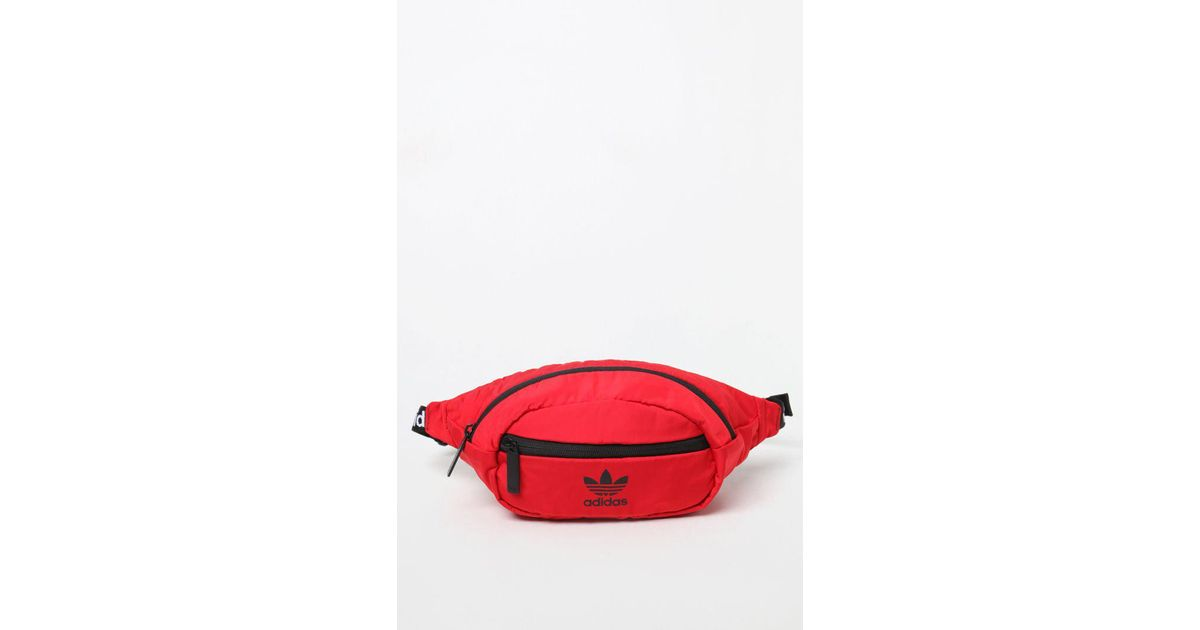 f3dcb112611 Lyst - adidas National Red   Black Waist Pack in Red for Men