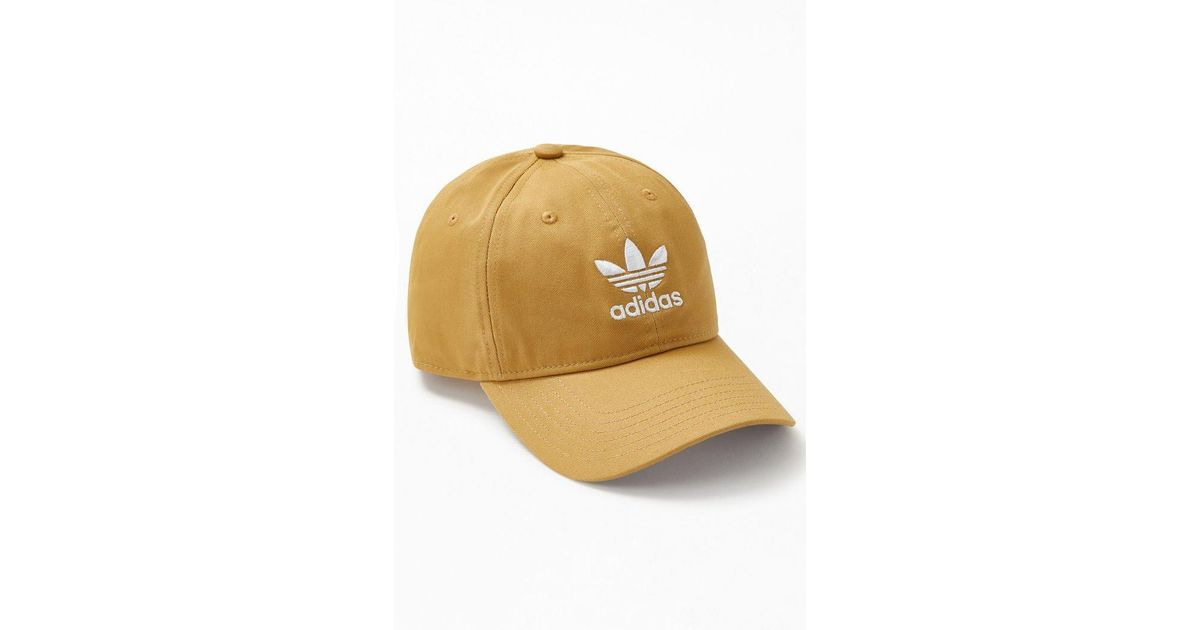 7e094fff735 Lyst - adidas Khaki Relaxed Strapback Dad Hat in Natural for Men
