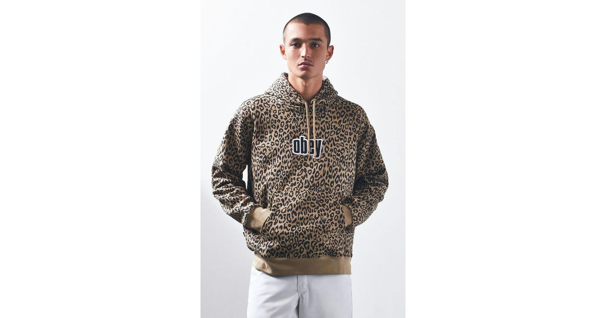 d26770842805 Obey Gusto Leopard Pullover Hoodie for Men - Lyst
