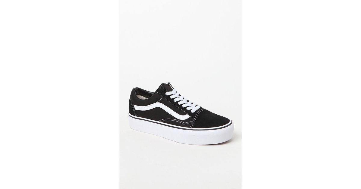 Lyst - Vans Women s Old Skool Platform Sneakers in Black b3c7e20acb