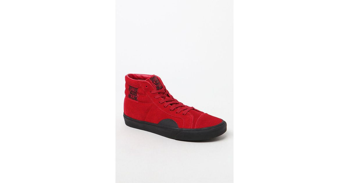76140f6aec1 Lyst - Vans Native Suede Style 238 Red   Black Shoes in Red for Men