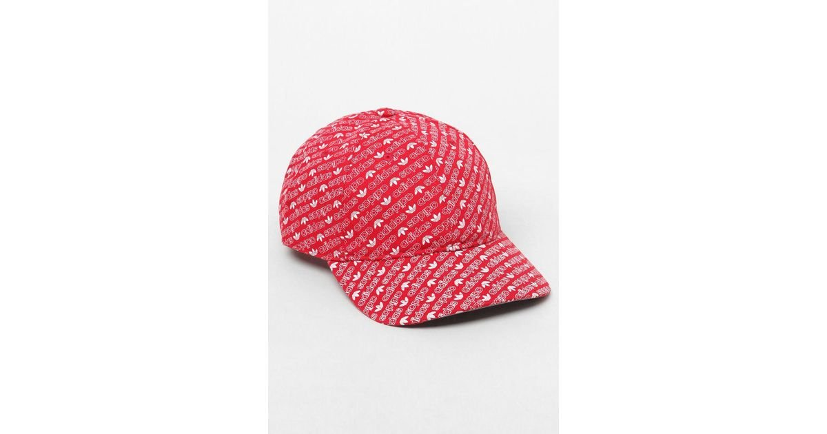 4a471d8ea3d8a Lyst - adidas All Over Print Red Strapback Dad Hat in Red for Men