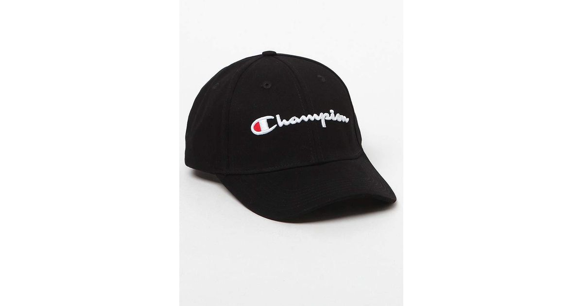19c546dbdcb Lyst - Champion Classic Twill Strapback Dad Hat in Black for Men