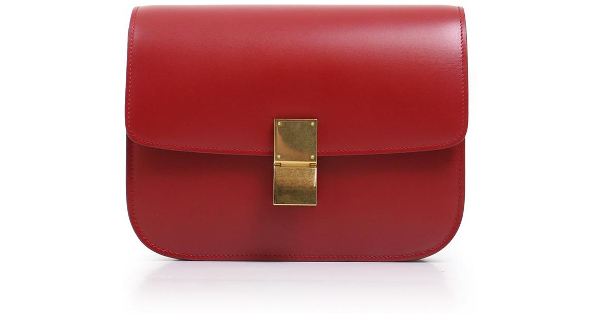 Lyst - Céline Classic Box Bag Red in Red fe3e55a594eae