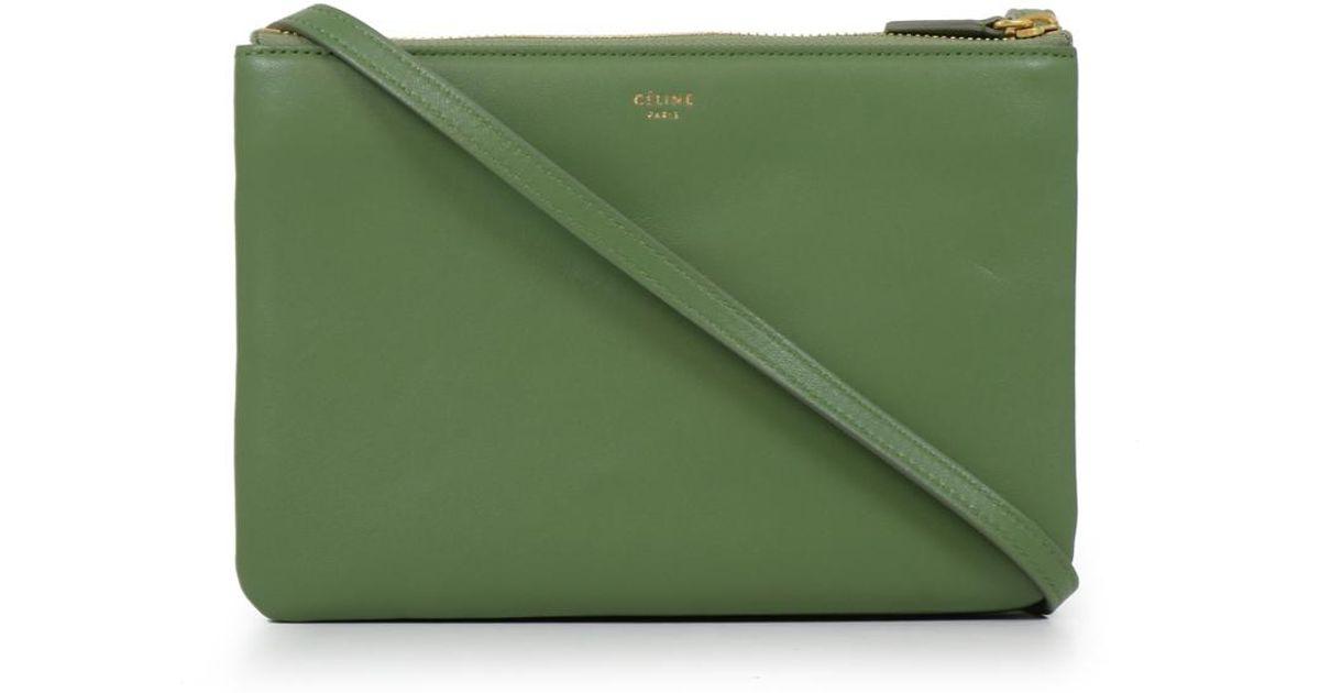 Céline Small Trio Bag Olive in Green - Lyst bd4d52a24b