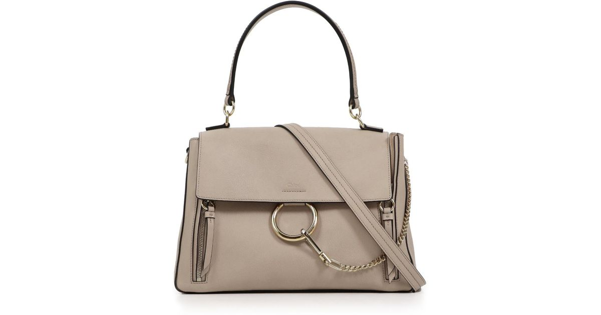 505a2081346e Lyst - Chloé Faye Day Medium Bag Motty Grey in Gray
