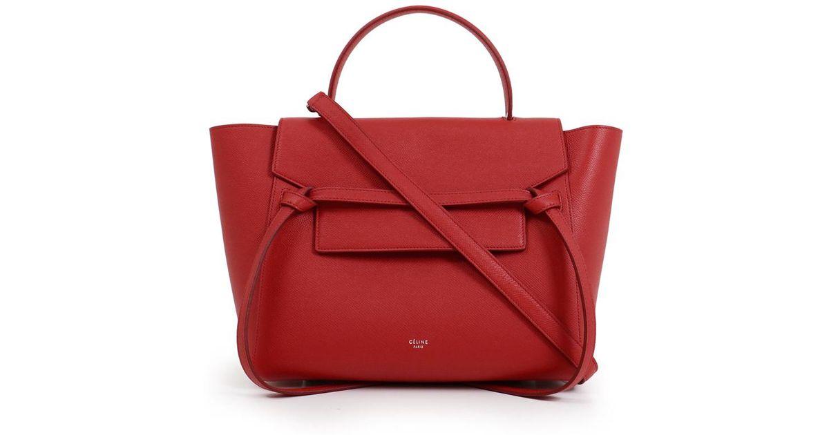 Lyst - Céline Mini Belt Bag Pop Red in Red e04cdc936c813
