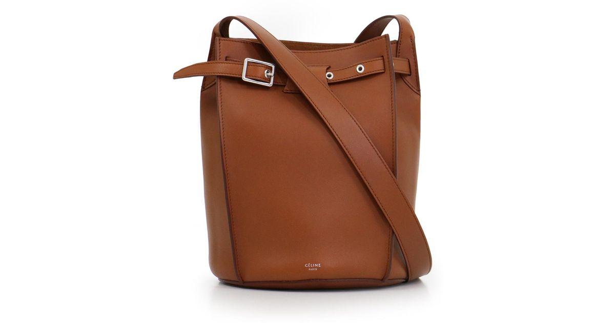 921b6028c076 Lyst - Céline Big Bag Bucket Bag With Long Strap Tan in Brown