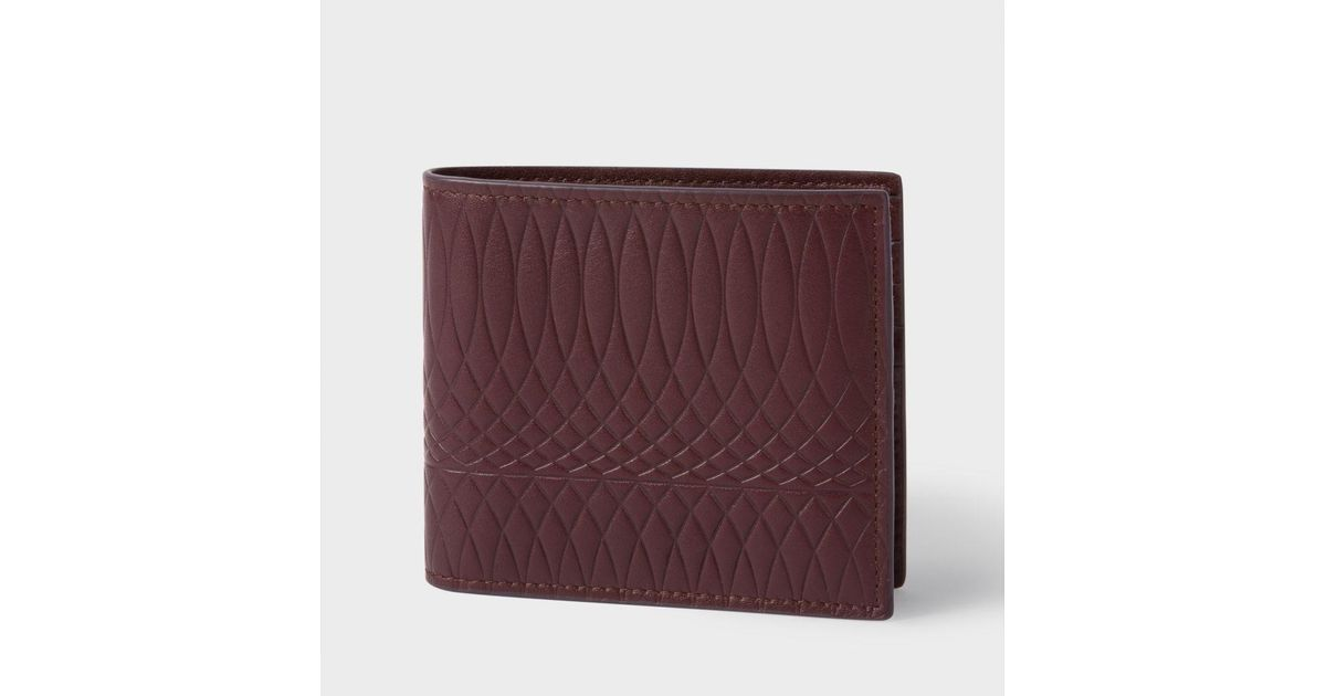 3baa06c49631 Lyst - Paul Smith No.9 - Men's Damson Leather Billfold Wallet for Men