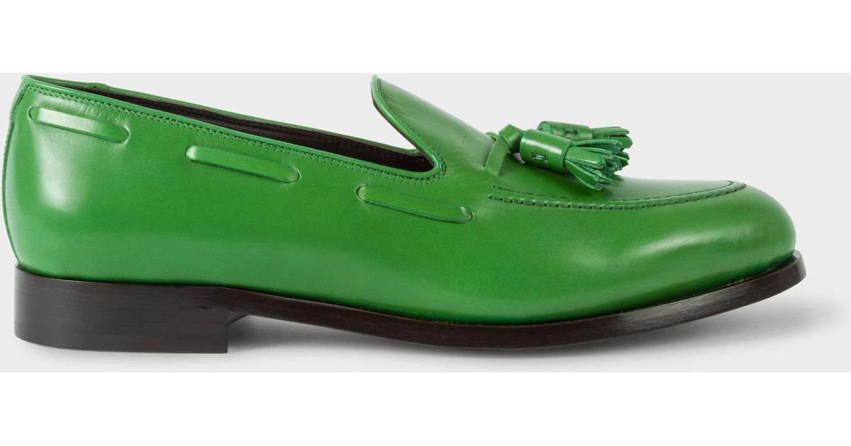 3d937ca372d Paul Smith Green Leather  simmons  Tasseled Loafers in Green for Men - Lyst