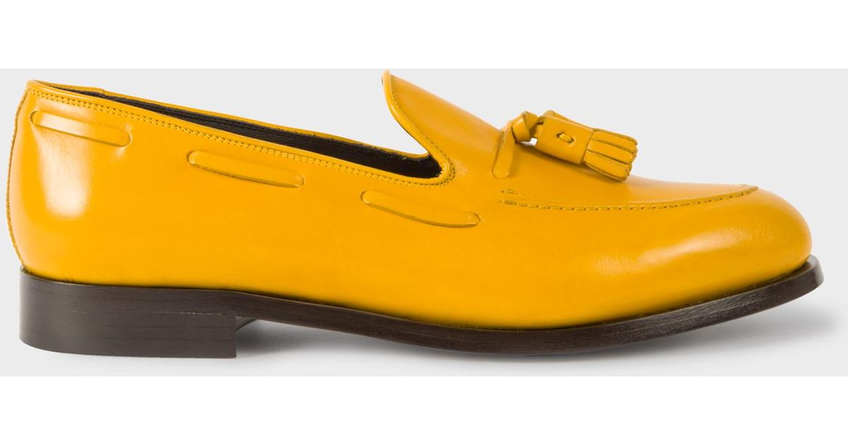dfecf73abe5 Paul Smith Men s Yellow Leather  simmons  Tasseled Loafers in Yellow for Men  - Lyst
