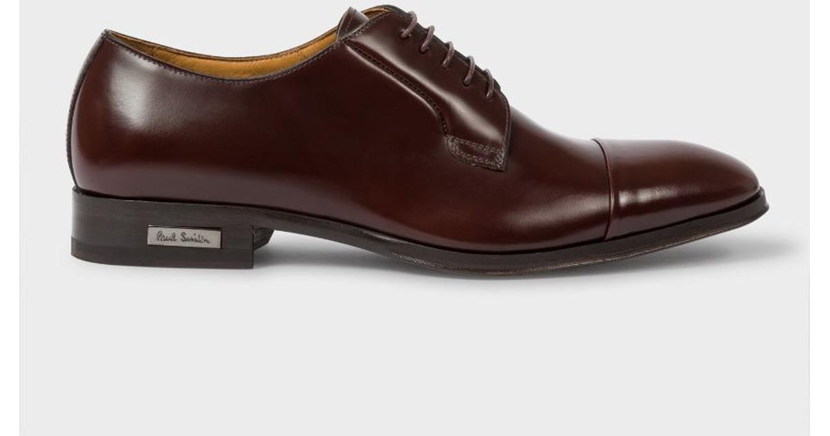 Lyst Paul Smith Men S Burdy Leather Spencer Derby Shoes In Brown For