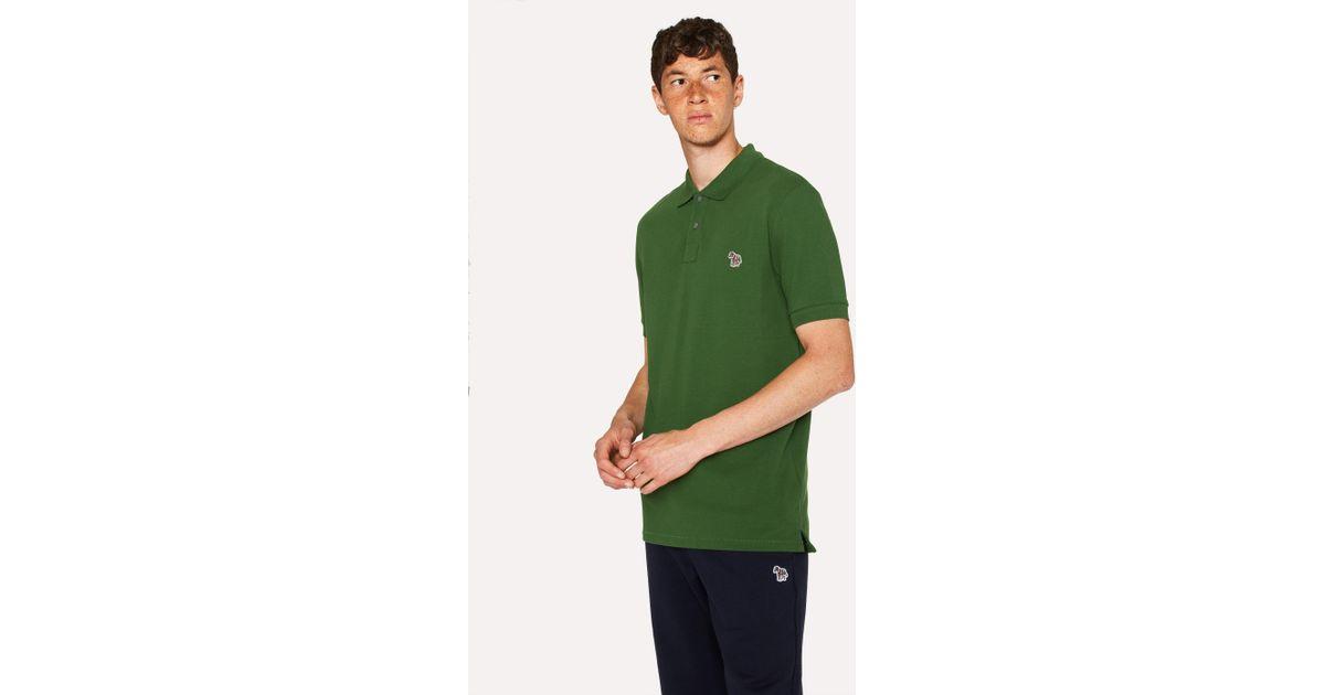 cf41b34ac Paul Smith Forest Green Organic Cotton-piqué Zebra Logo Polo Shirt in Green  for Men - Lyst