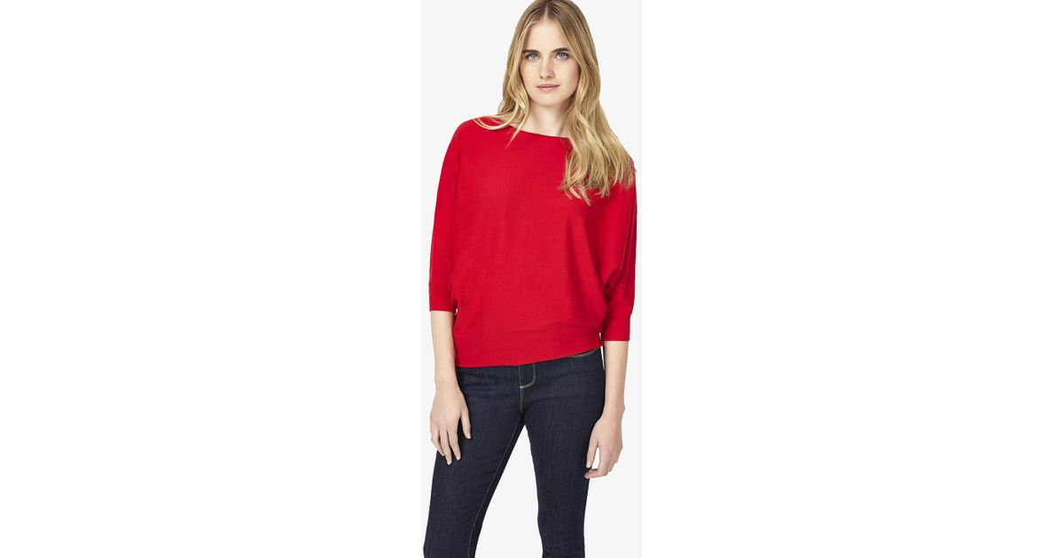 7c0b1a9e62f Phase Eight - Red Becca Batwing Smart Jumper - Lyst
