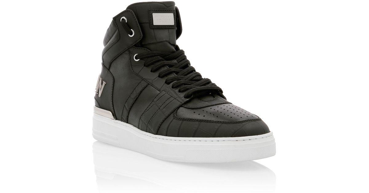 Original For Men Top Sneakers In Lyst Black Plein Philipp Mid 8OZ0wnkNPX