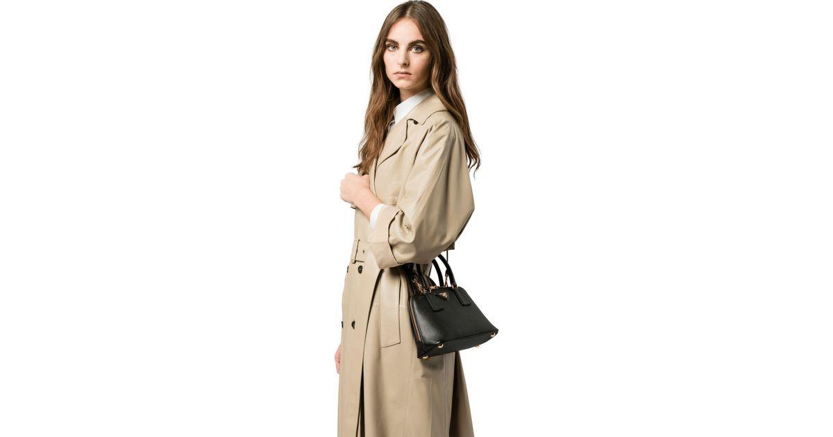 450fe033732b Lyst - Prada Promenade Saffiano Leather Bag in Black