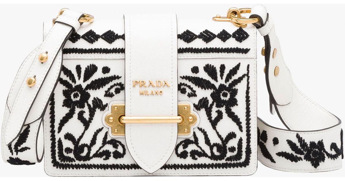 ae8dd3934622 Lyst - Prada Cahier Bag in Black