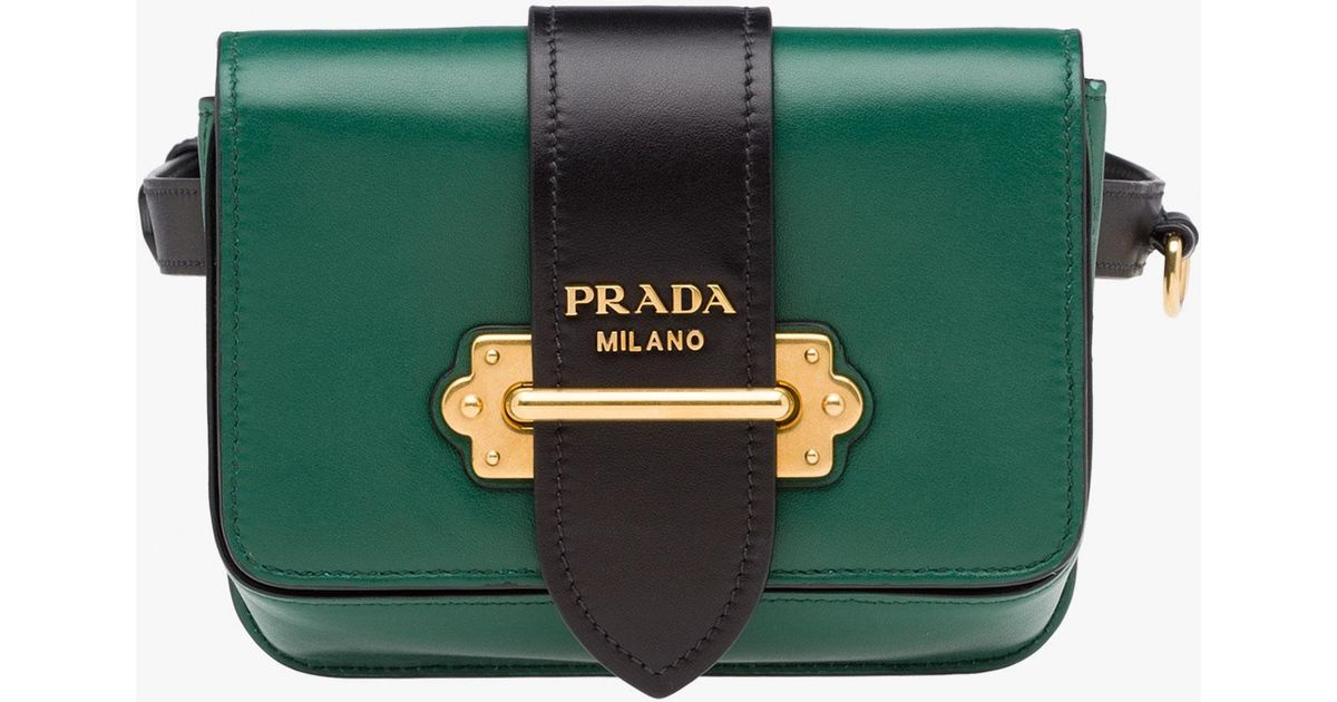 dd9bc1ba870b0c ... promo code for lyst prada cahier bag in green 6960c 50620 ...